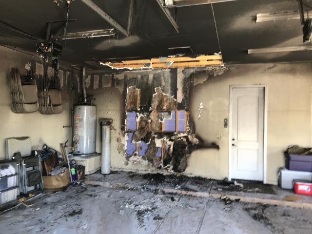 Buckeye, AZ - Estimating repairs due to a garage fire for a family in Buckeye.