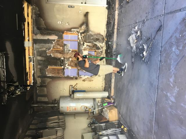 Buckeye, AZ - Started clean up and writing up unsalvageable items in this beautiful Buckeye family home.