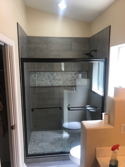 Glendale, AZ - Finished bathroom remodel for a family in Glendale.