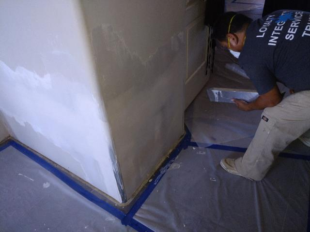 Queen Creek, AZ - Continuing installation of Drywall for a family in Queen Creek after home flooded.