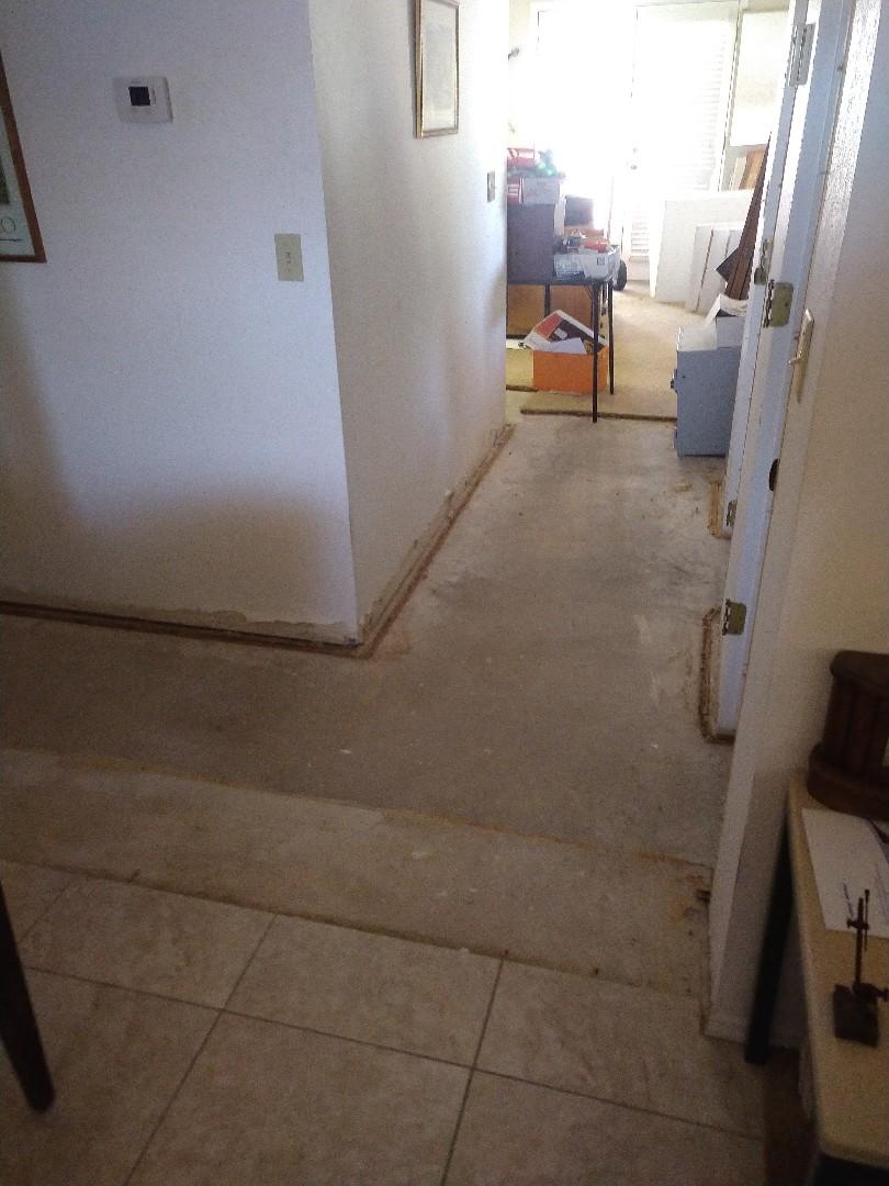 Sun City, AZ - Measuring for flooring for a customer in sun City