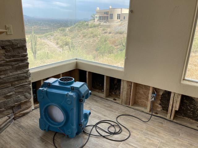 New River, AZ - Working on mold remediation after a water leak for a family in New River.