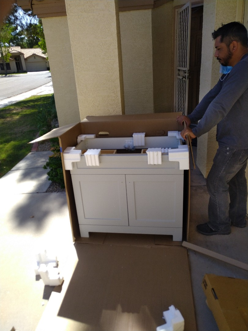 Tempe, AZ - Installing a vanity for a customer in Tempe