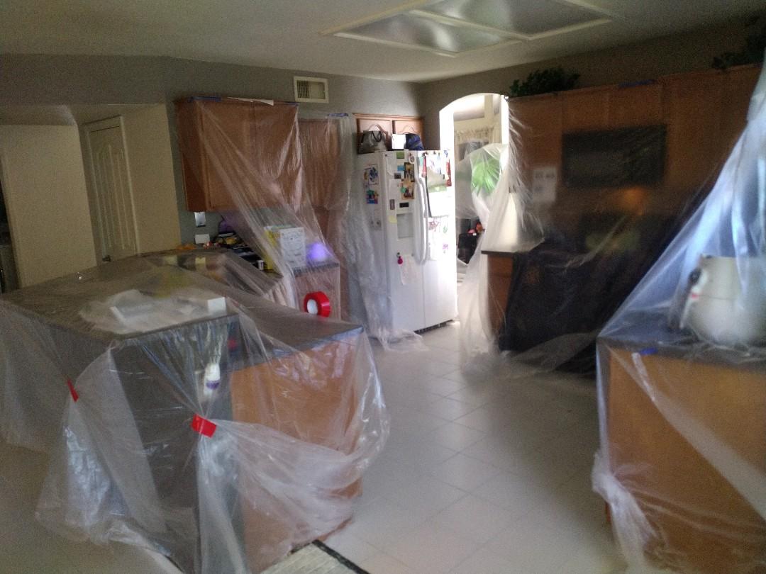 Gilbert, AZ - Removing some tile for a customer in Mesa