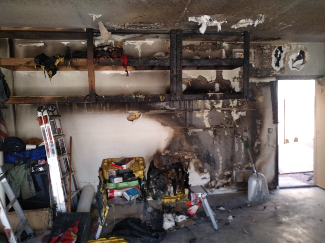 Goodyear, AZ - Cleaning up a fire job for a family in Goodyear