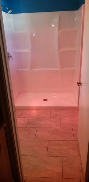 Chandler, AZ - Finished installing members new shower and tile flooring.