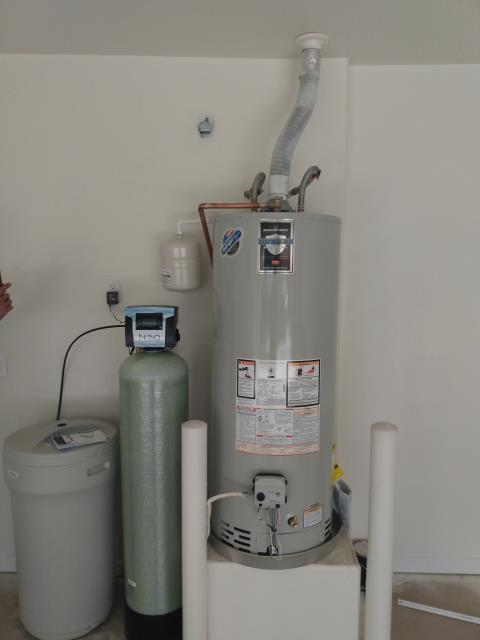 Goodyear, AZ - Finished installing members new hot water heater and water softener.