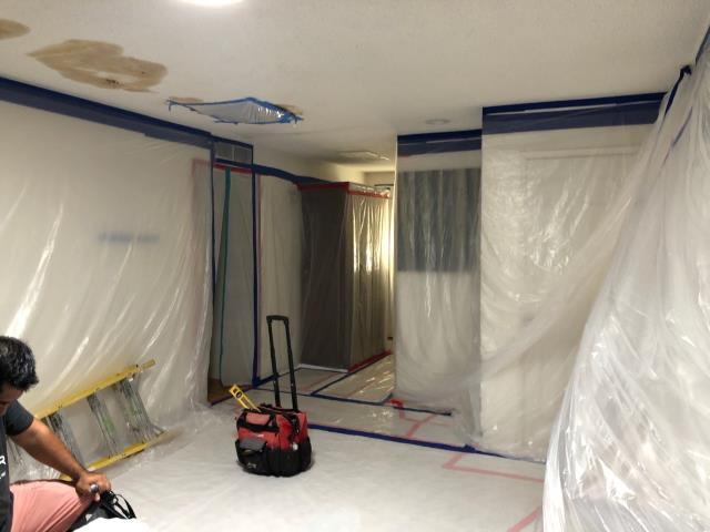Phoenix, AZ - Finished setting up containment to do an environmental abatement for a family in Phoenix!