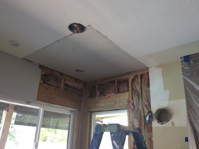 Chandler, AZ - Finished installing insulation and began hanging drywall for a woman in Chandler, AZ.