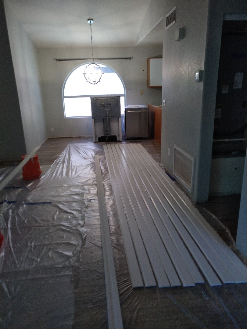 Peoria, AZ - Installing some baseboard for a customer in Glendale