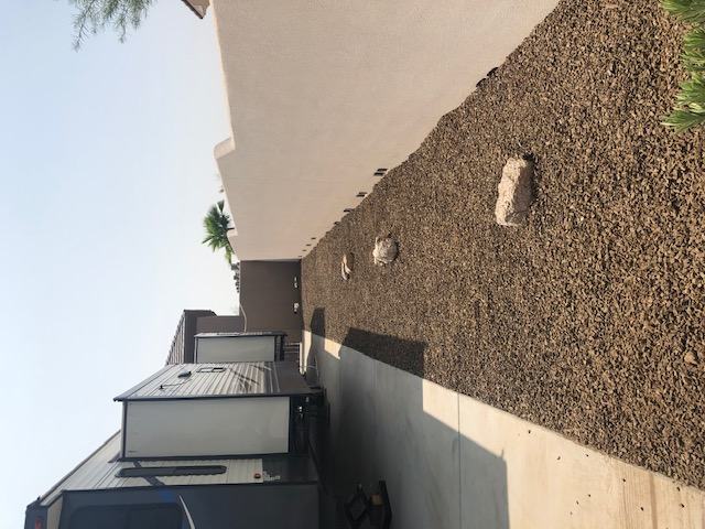 Buckeye, AZ - Finished laying gravel for a family in Buckeye, AZ after having a fire loss.
