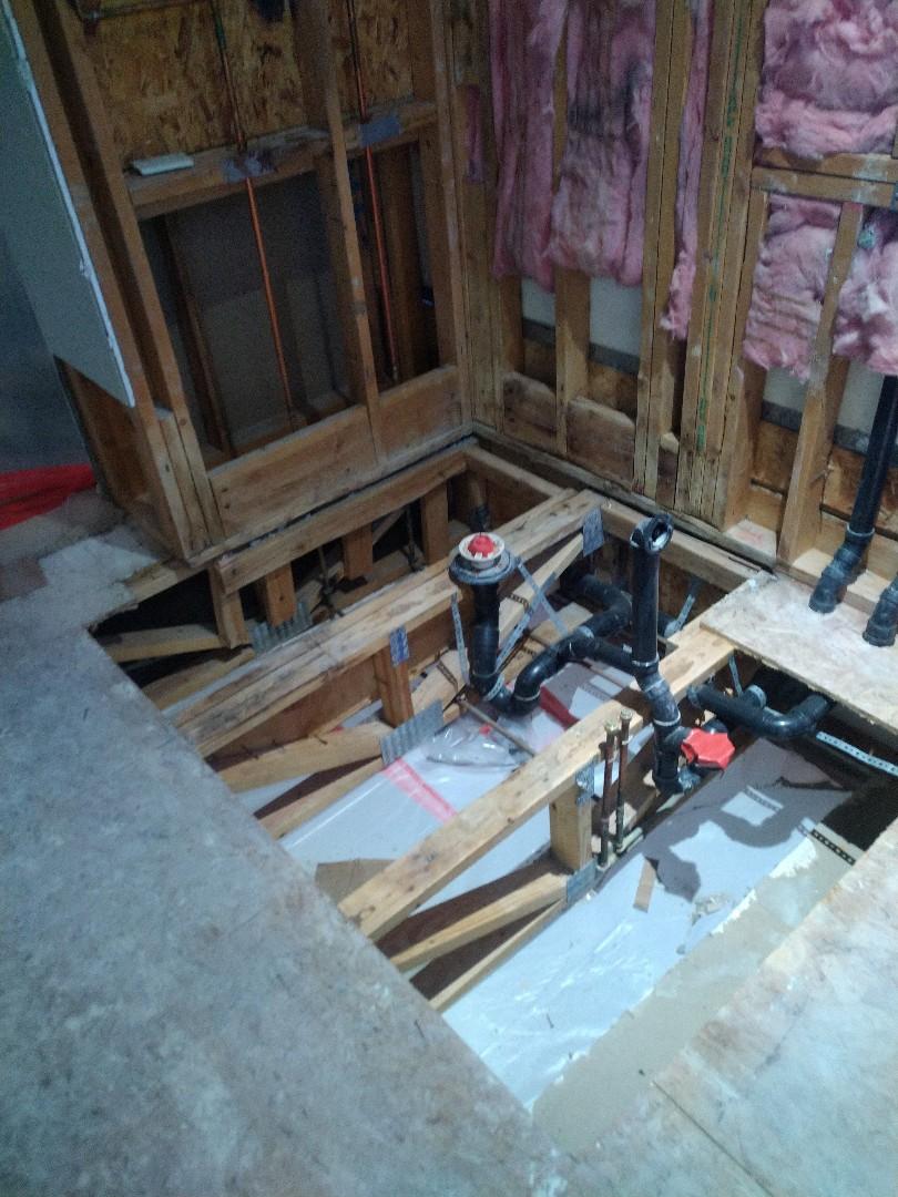 Phoenix, AZ - Repairing some subfloor for a customer in ahwatukee