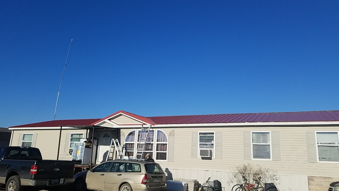Bonham, TX - Beautiful new red R panel roof in Bonham Texas