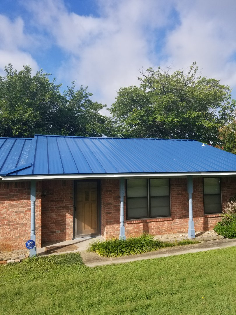 Sherman, TX - Lankford Roofing installed a beautiful new Standing seam metal roof.
