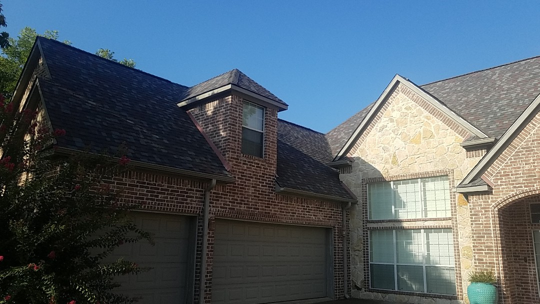 Denison, TX - Install beautiful new Owens Corning duration Colonial slate roof in Denison Texas by Lankford Roofing