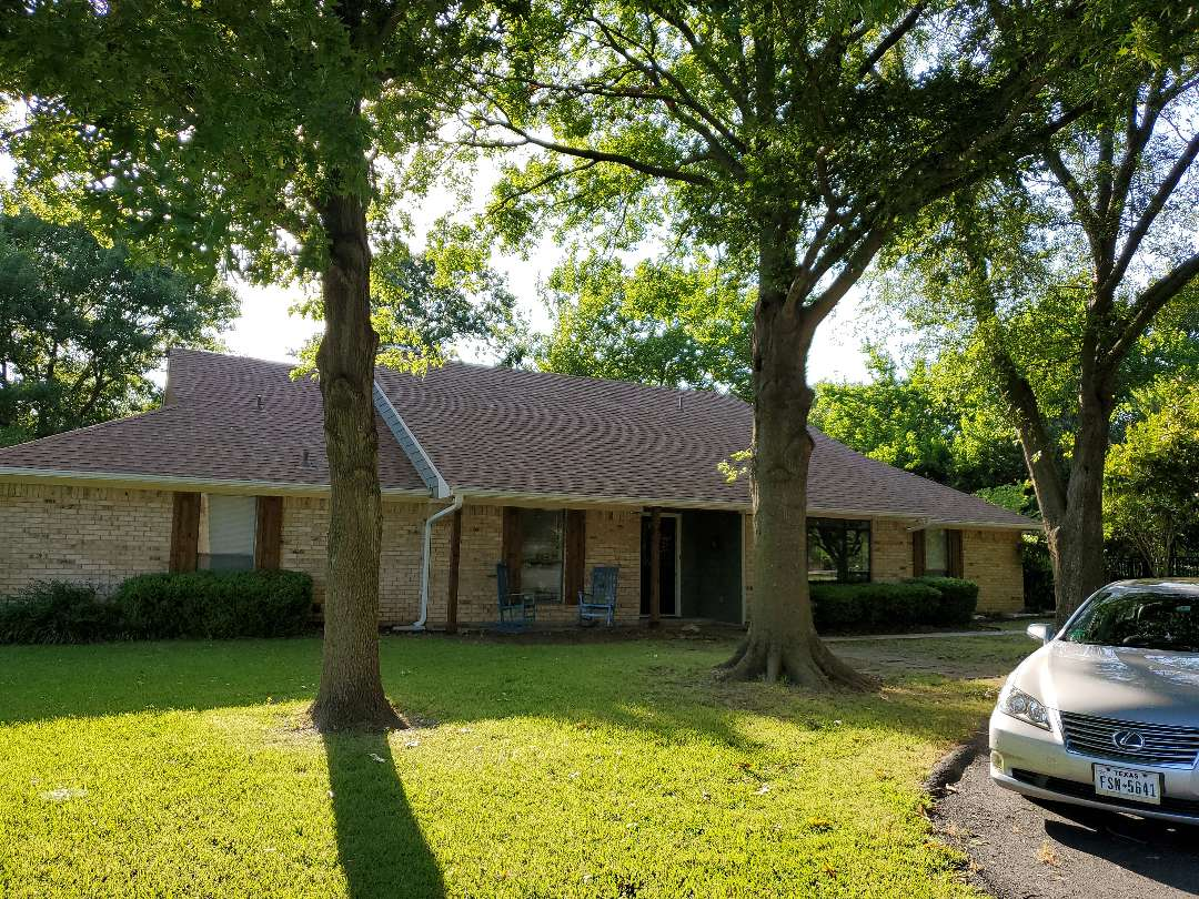 Sherman, TX - Gutter work by Lankford Roofing,Great customer