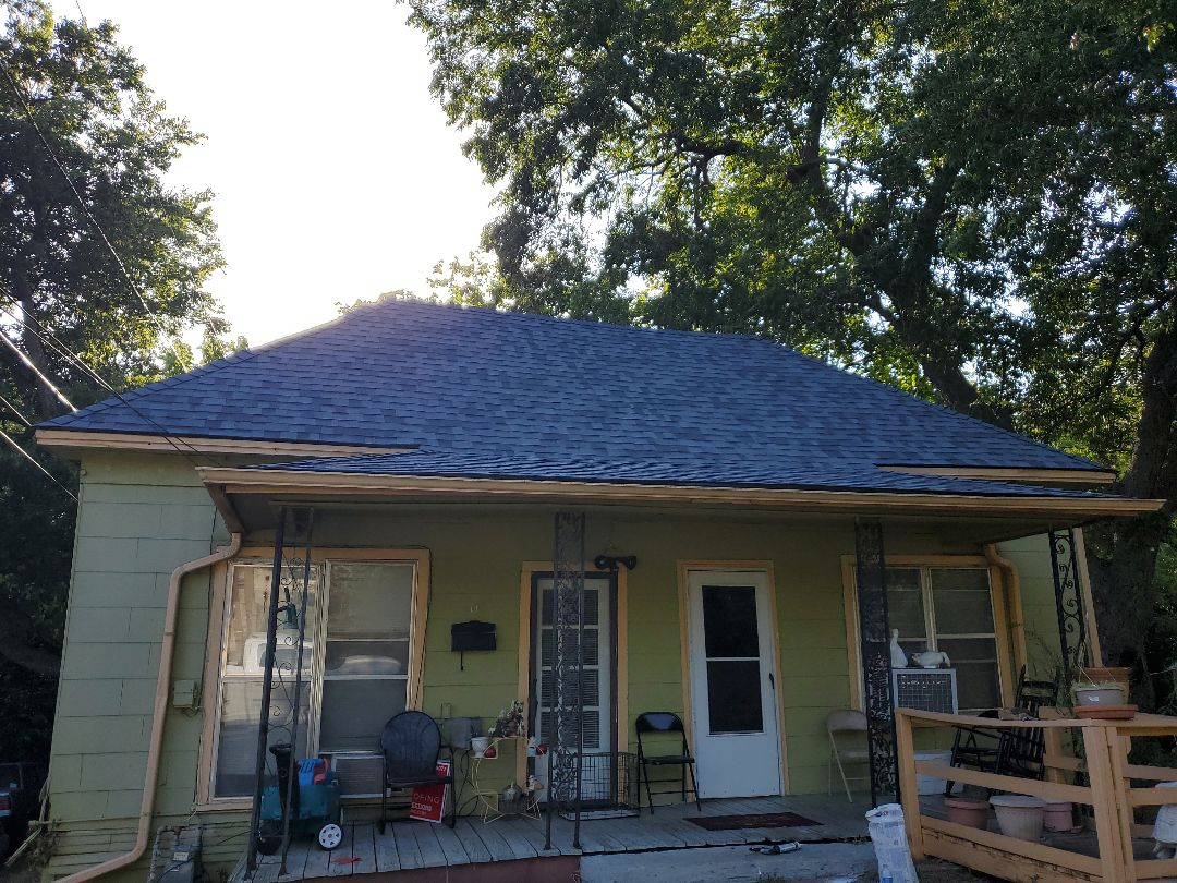 Denison, TX - Awesome new Harbor blue Owens Corning duration roof in Grayson County Texas by lankford roofing
