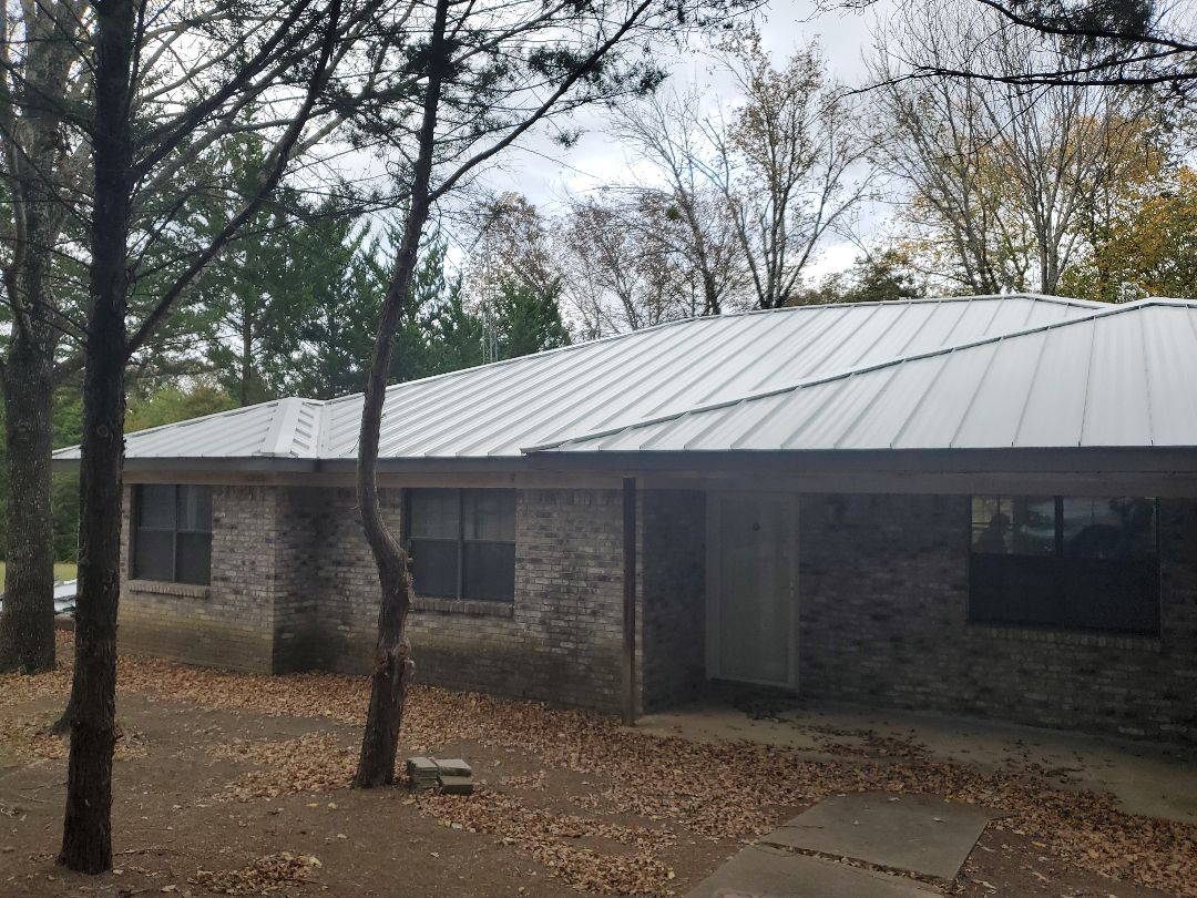 Bonham, TX - White Standing Seam Roof(the Cadillac of Roofs)and Charcoal metal  Fascia,in Fannin County Texas by Lankford Roofing