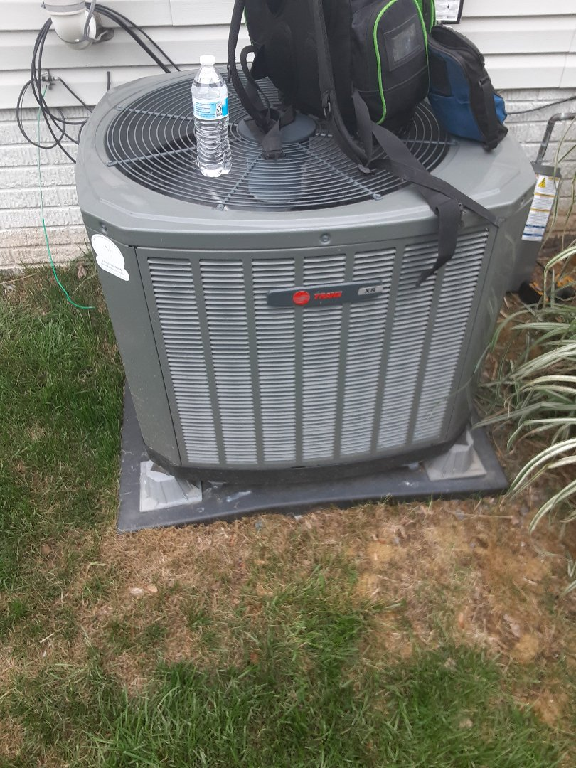 Aldie, VA - Performing a cooling inspection on a Trane AC in Aldie VA