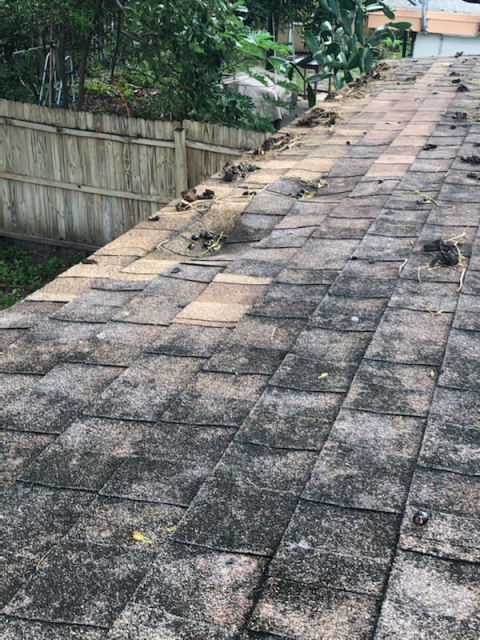 Palm Beach Gardens, FL - Replacing this Asphalt Shingle roof that was installed on less than 2:12 pitched roof.
