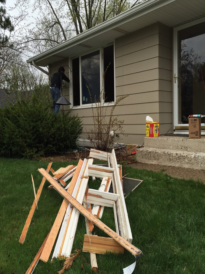 Cottage Grove, MN - Old wood exterior which needed scraping and painting is now maintenance free with Renewal by Andersen's patented Fibrex window and exterior trim.