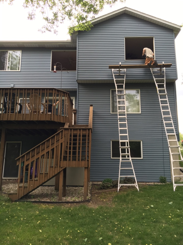 Cottage Grove, MN - The Renewal by Andersen master installers are hard at work installing new RbA gliding Windows and patio doors for increased energy performance and low maintenance! So long warped and rotting Windows!