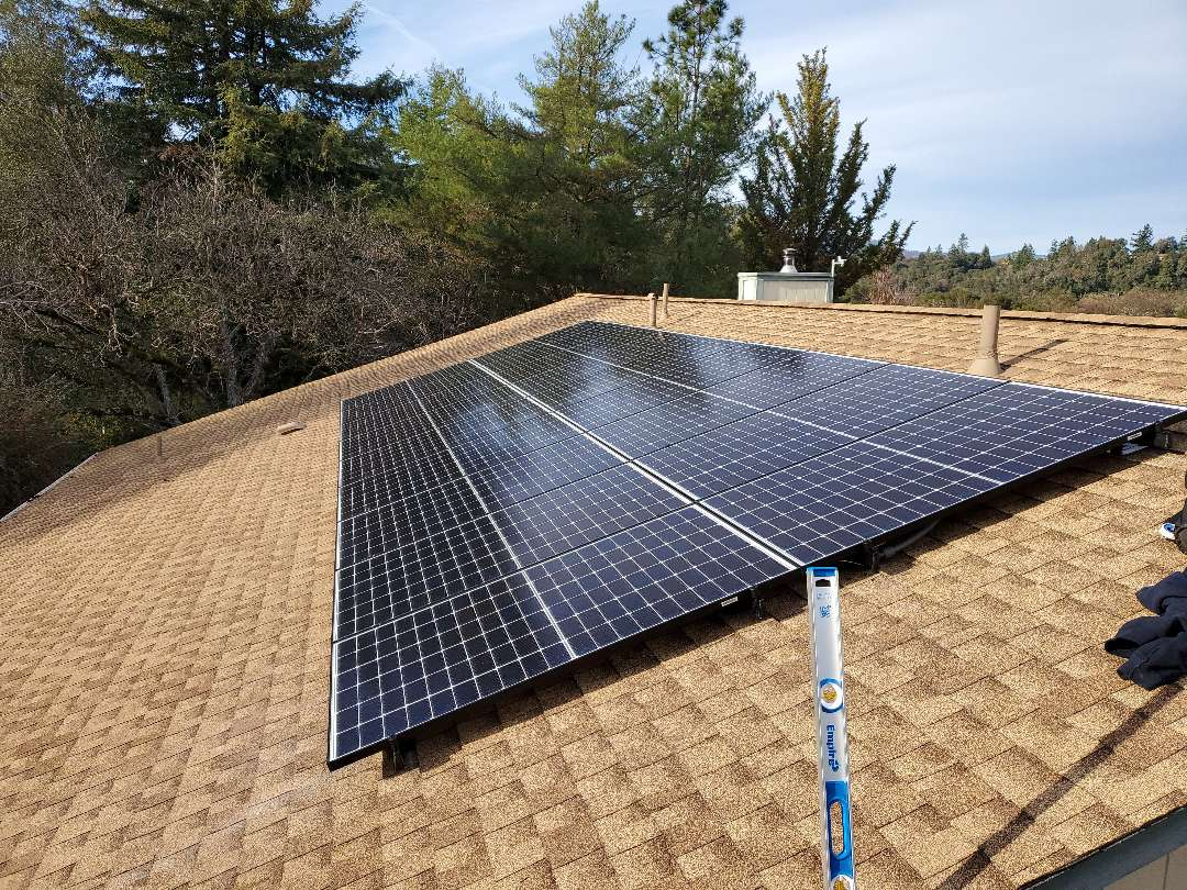 Redwood Valley, CA - Install 18 panel solar system.
