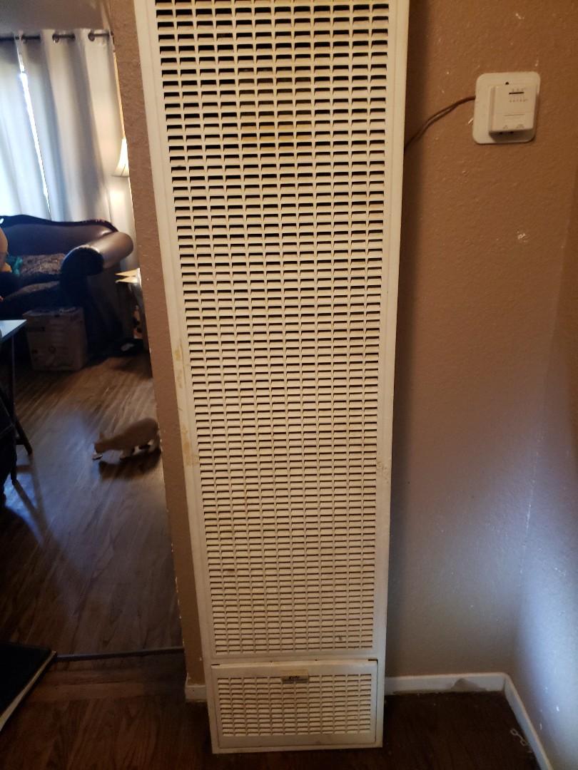 Ukiah, CA - Service call on cozy wall heater.