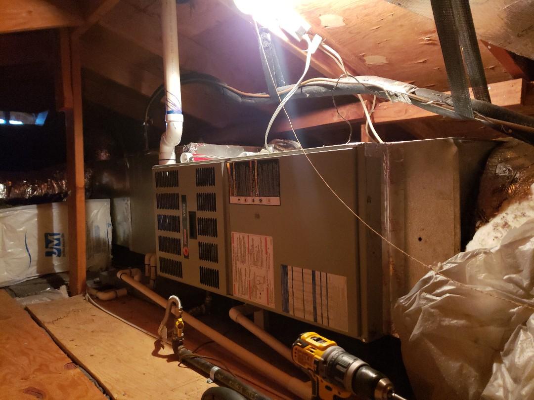 Ukiah, CA - Maintenance on Trane furnace.