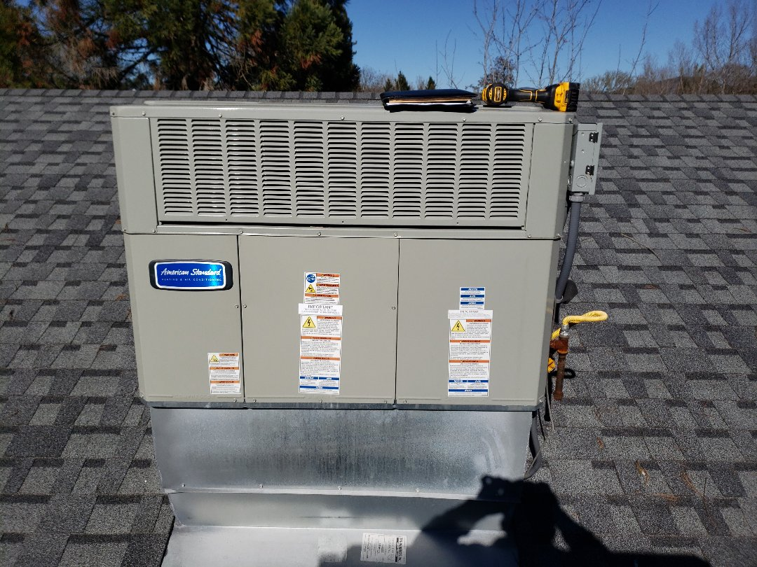 Willits, CA - Service call no he American standard package unit