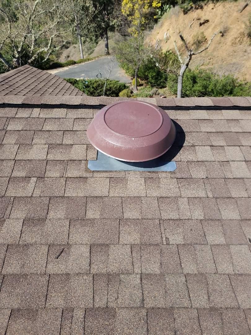 Ukiah, CA - Service install attic vent fan