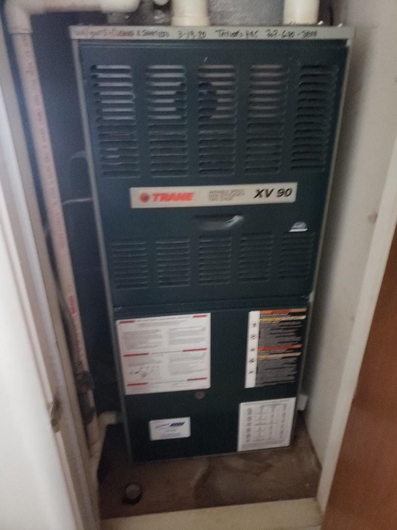 Ukiah, CA - Service call on trane furnace.