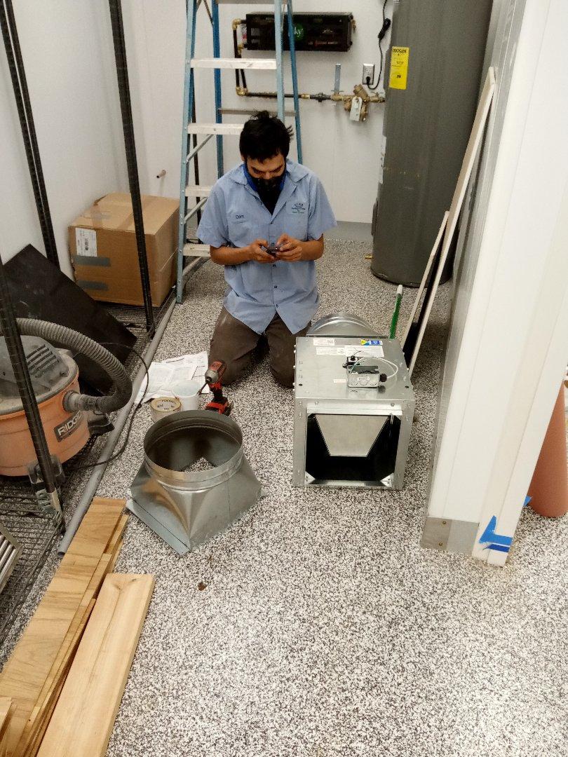 Ukiah, CA - Working on a duct system fan co-op