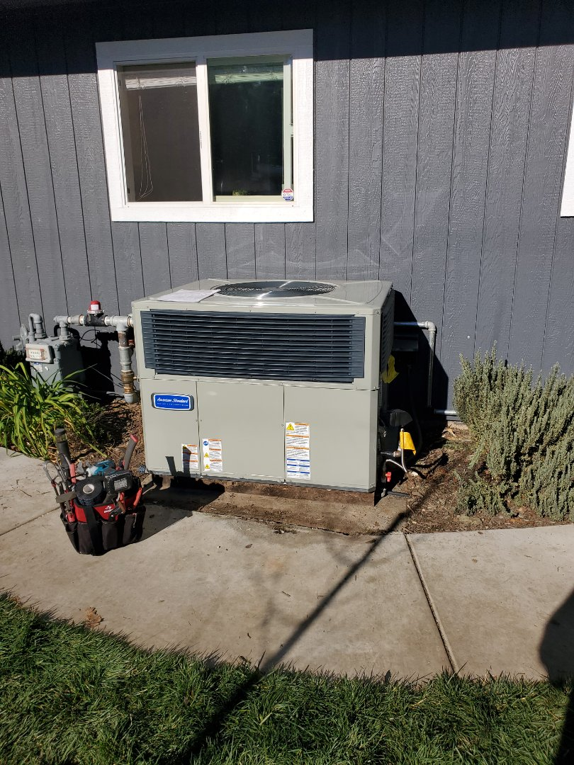 Redwood Valley, CA - Install American standard package unit