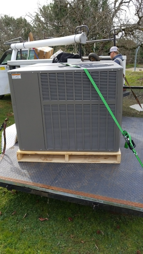 Lakeport, CA - Install heat pump package unit