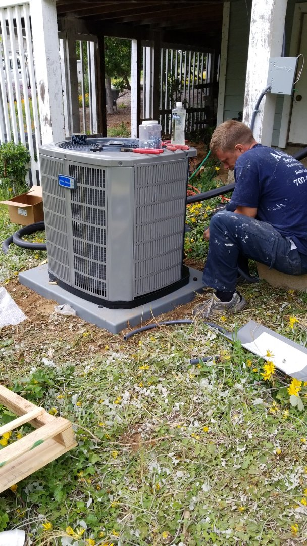 Ukiah, CA - Adding air conditioning to existing heating system.