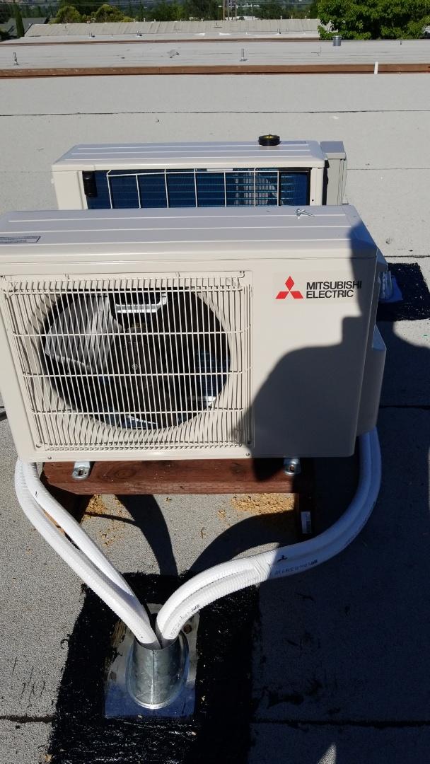 Ukiah, CA - Install Mitsubishi minisplit system