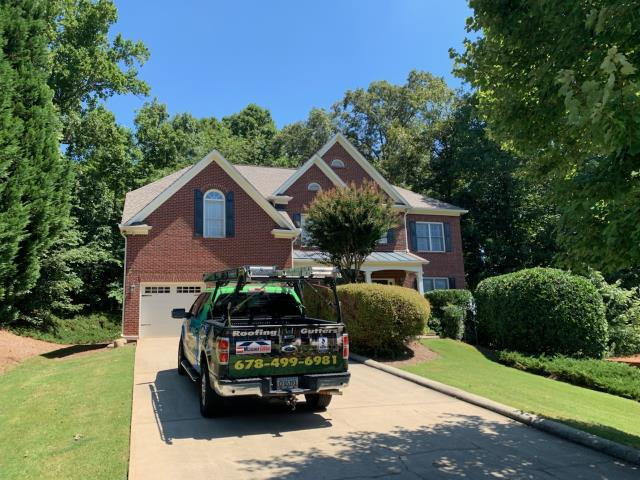 Atlanta, GA - Removed roof that was in poor condition and leaking. We replaced roof with a GAF Timberline Architectural Lifetime Shingle Roof.