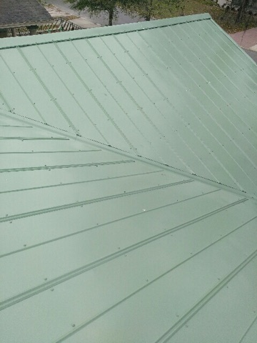 Tampa, FL - Union Corrugated 5-V Metal Roof Color: Patina Green