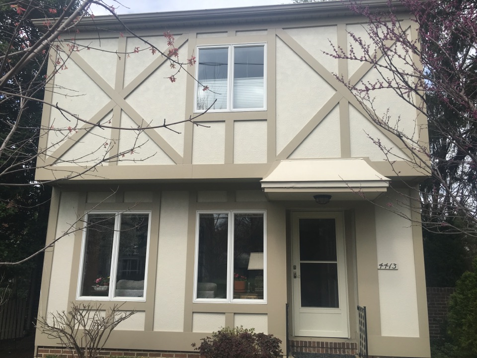 Washington, DC - Gibson Service Call James Hardie Stucco project with James Hardie custom trim