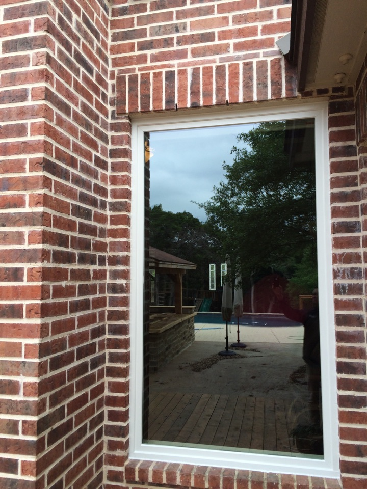 Bulverde, TX - Off white Renewal by Andersen picture window in brick