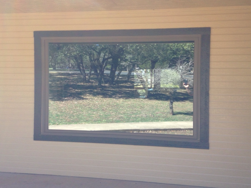 Bulverde, TX - Terratone picture window in siding