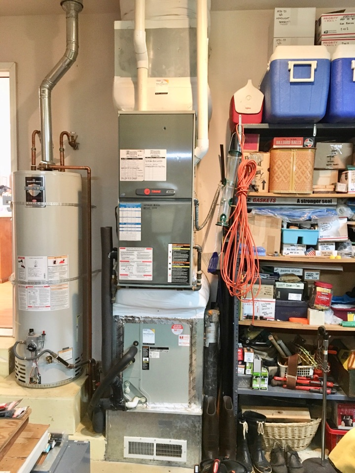 Philomath, OR - Performing a maintenance service call. Heating tune up on a Trane gas furnace.