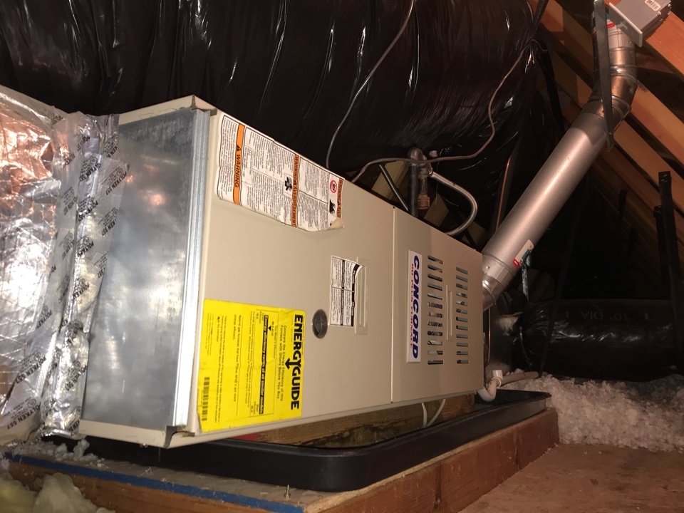 Eugene, OR - Precision tune up on a Concord Gas Furnace and Air Conditioner
