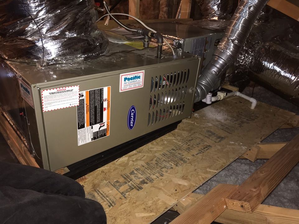 Creswell, OR - Precision tune up on a Carrier Gas Furnace and a Trane Air Conditioner