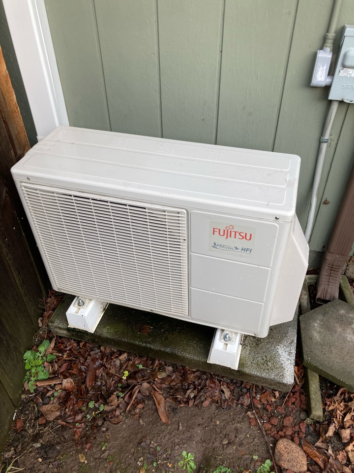 Lebanon, OR - Condenser fan motor replacement on Ductless heat pump.