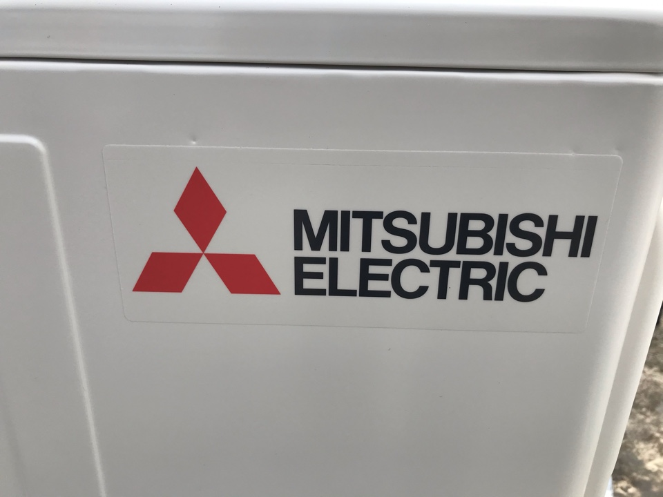 Tangent, OR - Roof top Mitsubishi ductless heat pump installation.