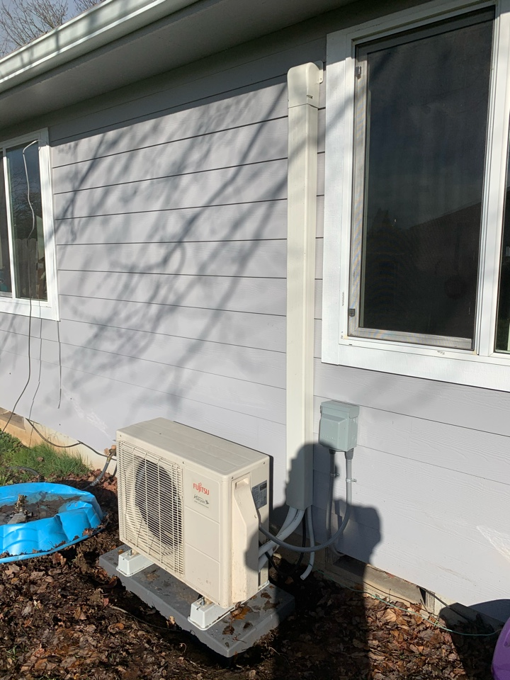Eugene, OR - New Ductless Heat Pump install
