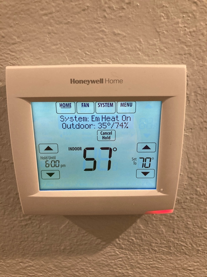 Salem, OR - Diagnostic and repair on Trane heat pump system, Honeywell thermostat replacement.