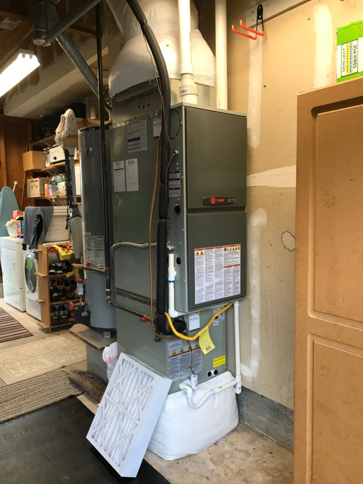 Philomath, OR - Maintenance on a Trane gas furnace and air conditioning system